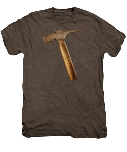 Antique Plumb Masonry Hammer On Color Paper Men's Premium T-Shirt