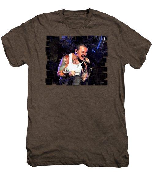 Chester Bennington From Linkin Park  Men's Premium T-Shirt
