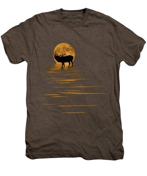 Elk In The Moonlight Men's Premium T-Shirt