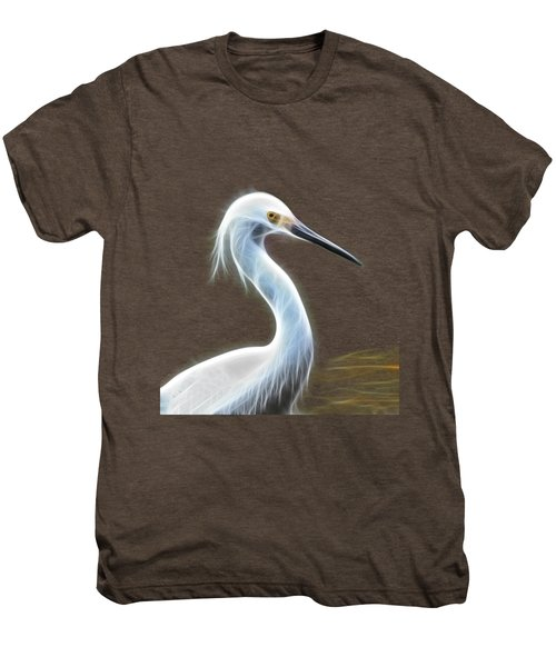 Snow Egret Men's Premium T-Shirt by Shane Bechler