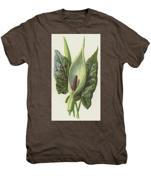Arum, Cuckoo Pint Men's Premium T-Shirt by Frederick Edward Hulme