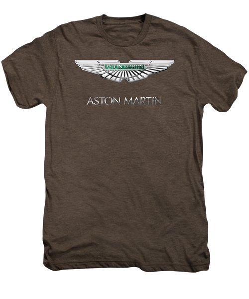Aston Martin - 3 D Badge On Red Men's Premium T-Shirt