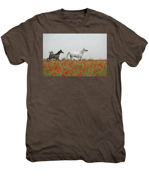 At The Poppies' Field... Men's Premium T-Shirt