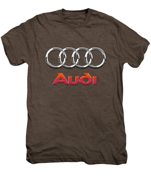Audi 3 D Badge On Black Men's Premium T-Shirt