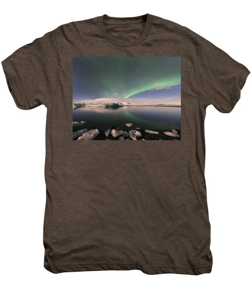Aurora Borealis And Reflection Men's Premium T-Shirt