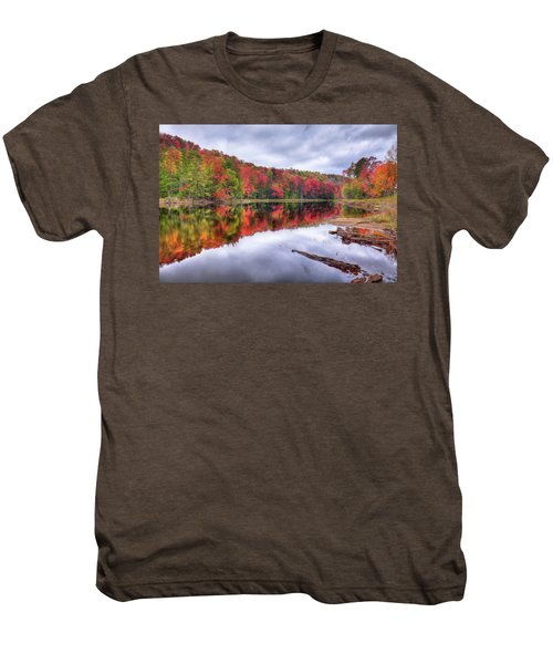 Men's Premium T-Shirt featuring the photograph Autumn Color At The Pond by David Patterson