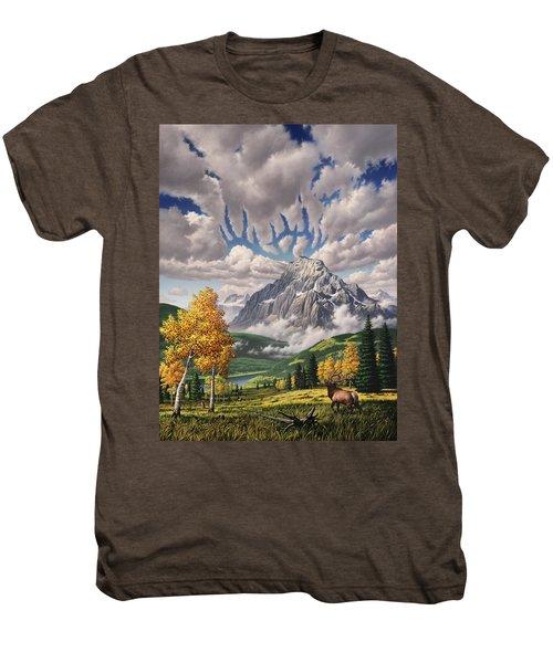 Autumn Echos Men's Premium T-Shirt by Jerry LoFaro