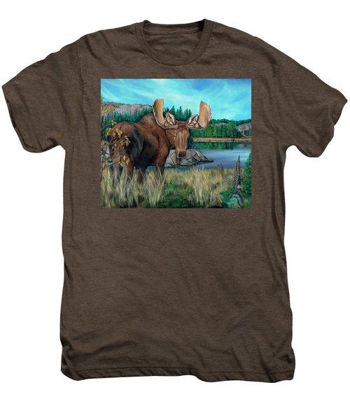 Autumn Moose Men's Premium T-Shirt