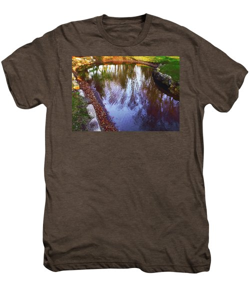 Autumn Reflection Pond Men's Premium T-Shirt