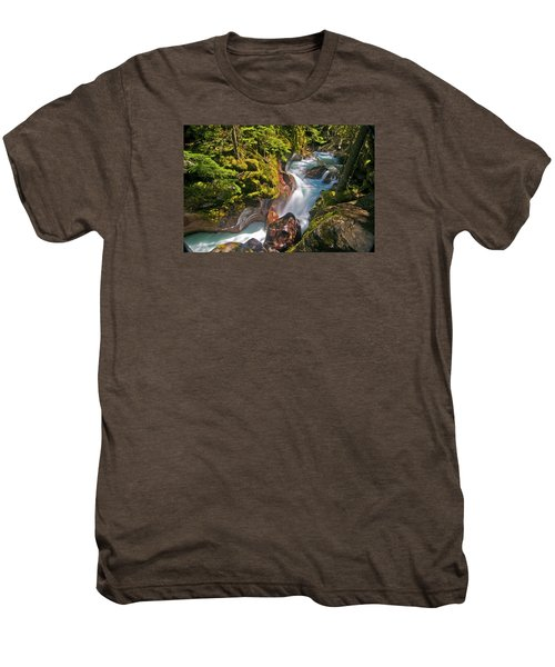 Men's Premium T-Shirt featuring the photograph Avalanche Gorge by Gary Lengyel