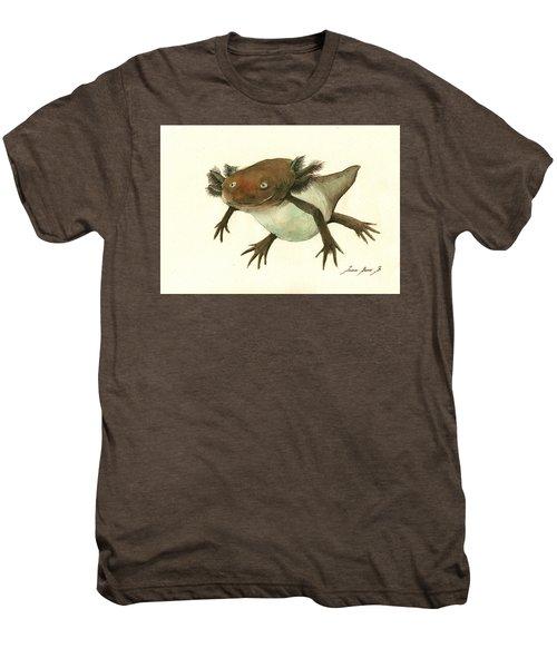 Axolotl Men's Premium T-Shirt by Juan Bosco