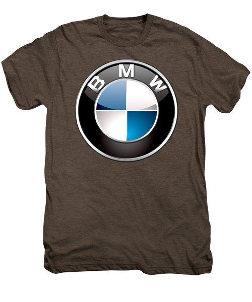 B M W  3 D Badge On Black Men's Premium T-Shirt