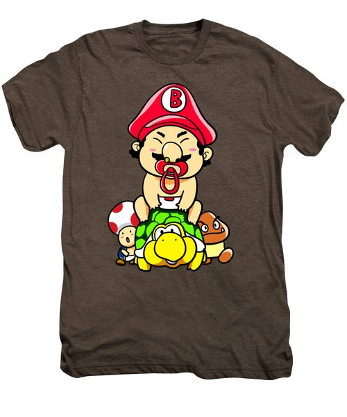 Baby Mario And Friends Men's Premium T-Shirt by Paws Pals