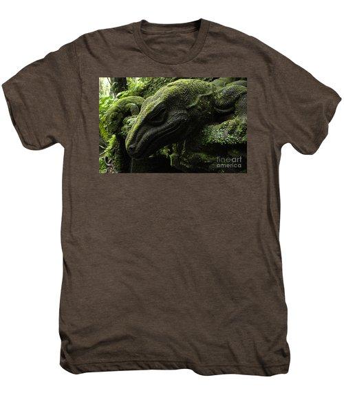 Bali Indonesia Lizard Sculpture Men's Premium T-Shirt by Bob Christopher