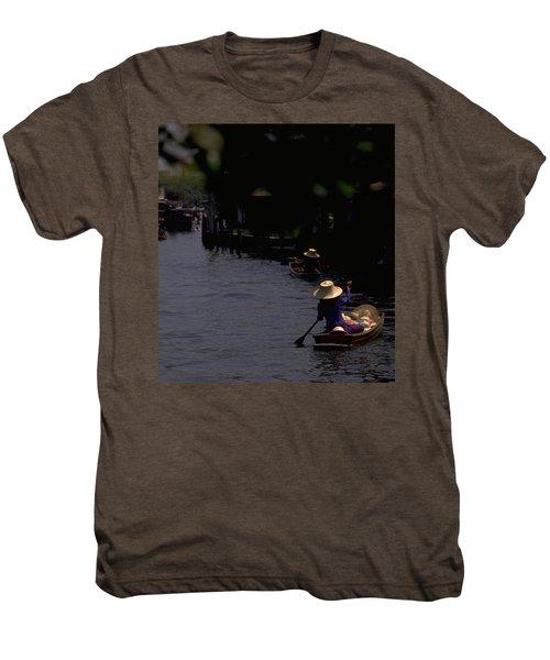 Bangkok Floating Market Men's Premium T-Shirt