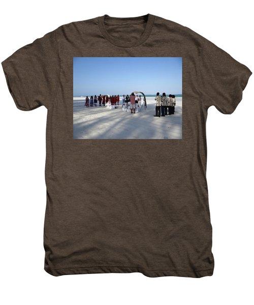 Beach Wedding In Kenya Men's Premium T-Shirt