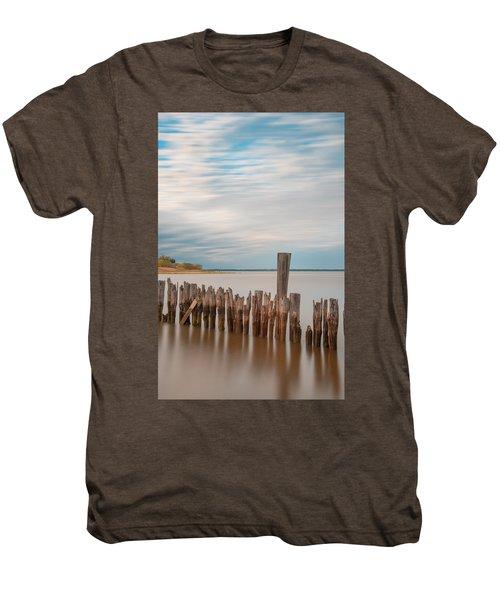 Beautiful Aging Pilings In Keyport Men's Premium T-Shirt
