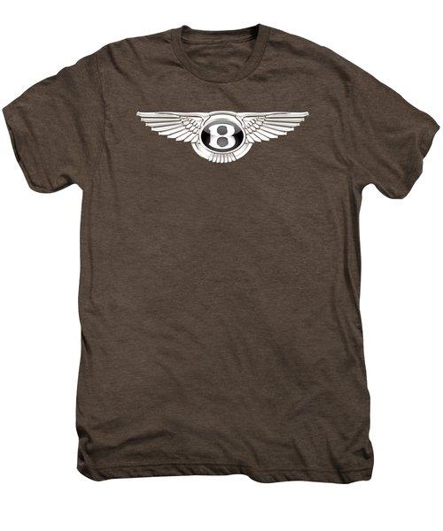 Bentley - 3 D Badge On Black Men's Premium T-Shirt
