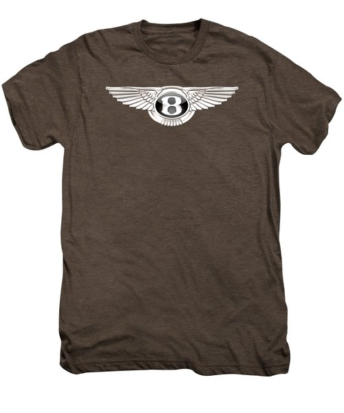 Bentley 3 D Badge On Red Men's Premium T-Shirt