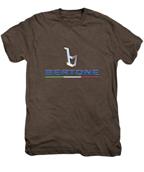 Bertone 3 D Badge On Red Men's Premium T-Shirt