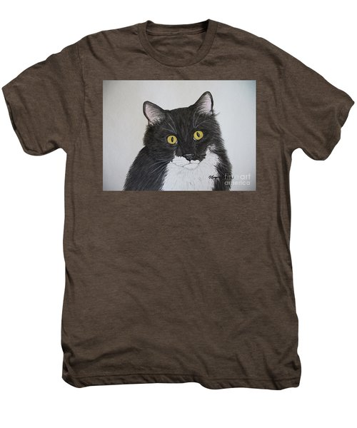 Black And White Cat Men's Premium T-Shirt