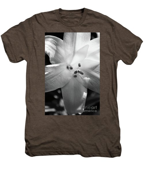 Black And White Easter Lily Men's Premium T-Shirt