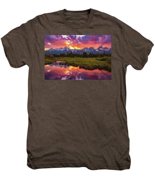 Black Ponds Sunset Men's Premium T-Shirt