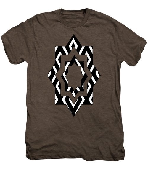 Black And White Pattern Men's Premium T-Shirt