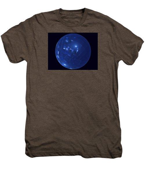 Blue Big Sphere With Squares Men's Premium T-Shirt