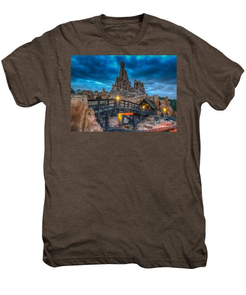 Blue Hour Over Big Thunder Mountain Men's Premium T-Shirt