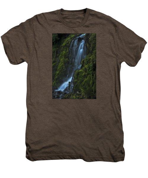Blue Waterfall Men's Premium T-Shirt