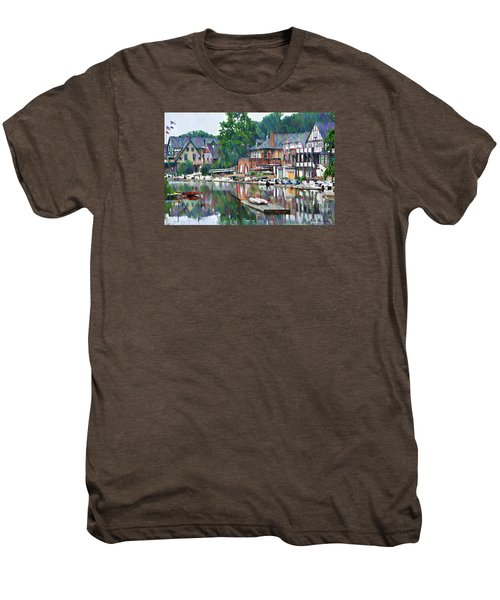 Boathouse Row In Philadelphia Men's Premium T-Shirt