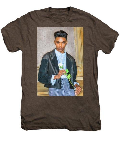 Boy With White Rose 15042618 Men's Premium T-Shirt