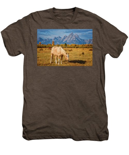 Breakfast In The Tetons Men's Premium T-Shirt