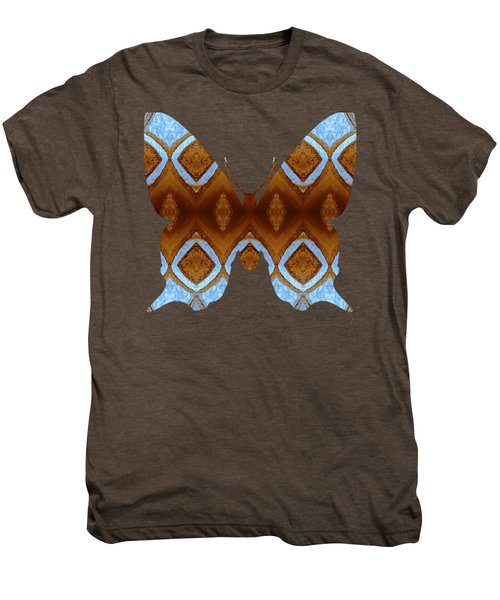 Brown And Blue Butterfly Men's Premium T-Shirt