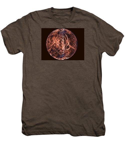 Brown Artificial Planet Men's Premium T-Shirt