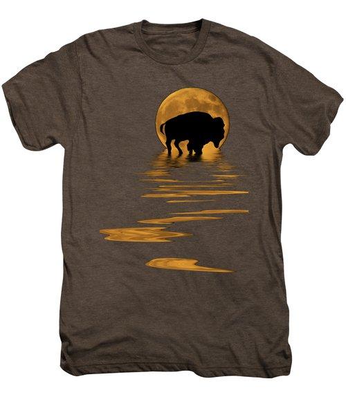 Buffalo In The Moonlight Men's Premium T-Shirt