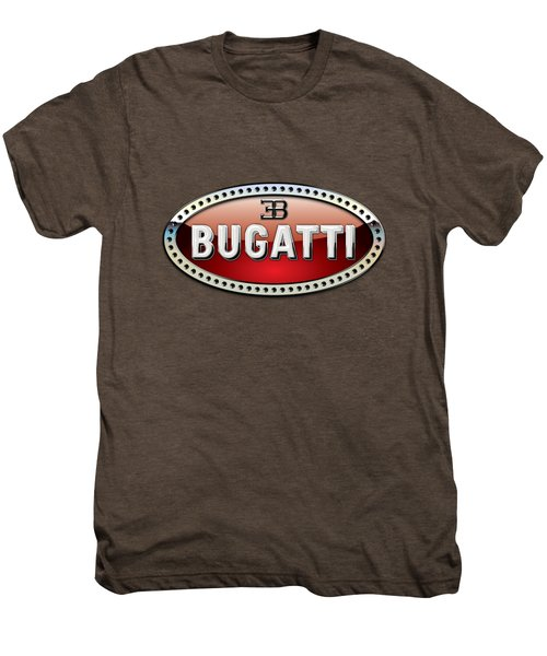 Bugatti - 3 D Badge On Red Men's Premium T-Shirt