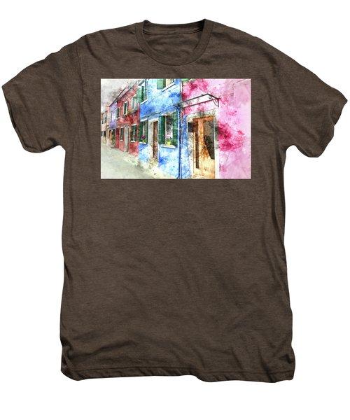 Burano Italy Buildings Men's Premium T-Shirt