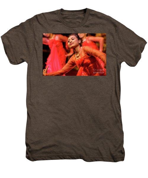 Burmese Dance 1 Men's Premium T-Shirt by Werner Padarin