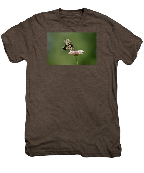 Butterfly On Zinnia Men's Premium T-Shirt