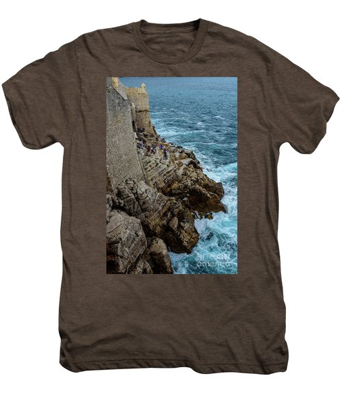 Buza Bar On The Adriatic In Dubrovnik Croatia Men's Premium T-Shirt