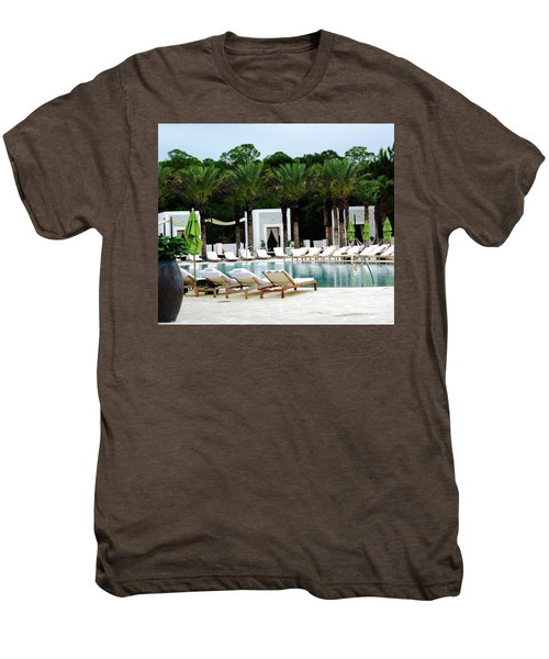 Caliza Pool In Alys Beach Men's Premium T-Shirt