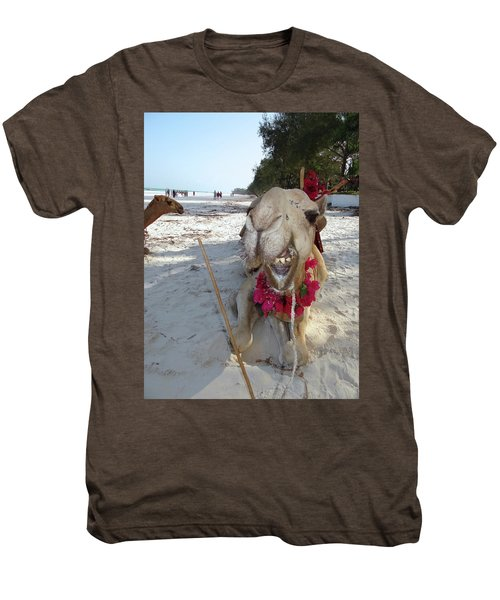 Camel On Beach Kenya Wedding2 Men's Premium T-Shirt