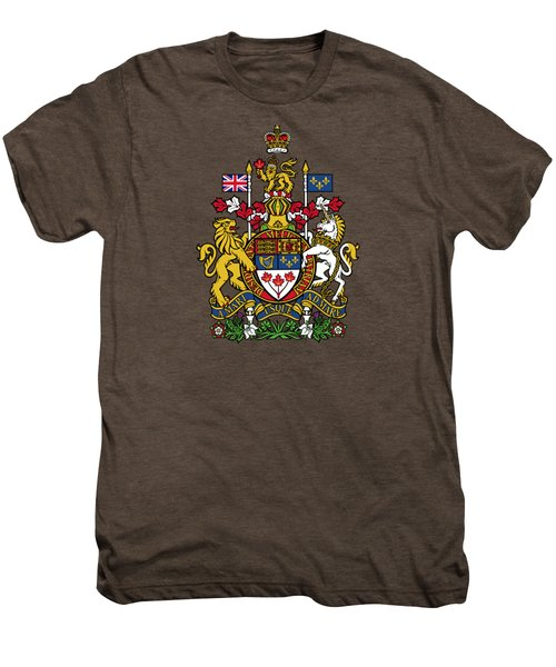Canada Coat Of Arms Men's Premium T-Shirt by Movie Poster Prints