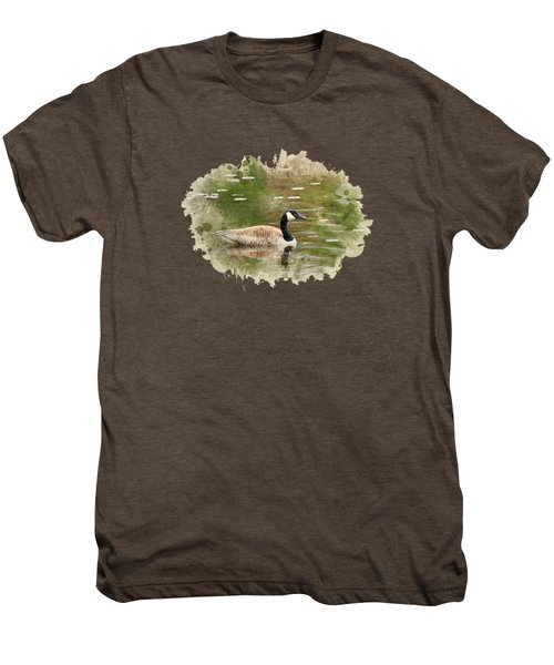 Canada Goose Watercolor Art Men's Premium T-Shirt by Christina Rollo