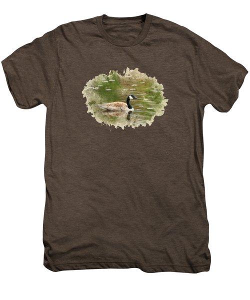Canada Goose Watercolor Art Men's Premium T-Shirt