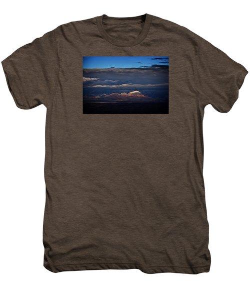 Capitol Butte In Sedona With Snow Men's Premium T-Shirt