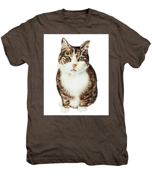 Cat Watercolor Illustration Men's Premium T-Shirt