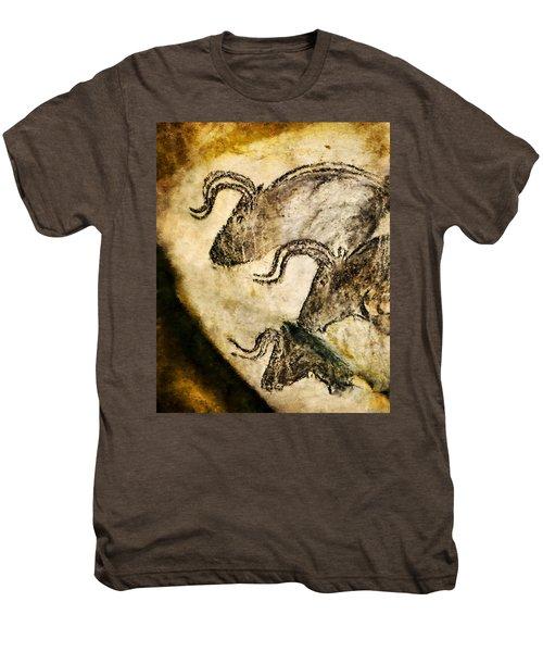 Chauvet - Three Aurochs Men's Premium T-Shirt